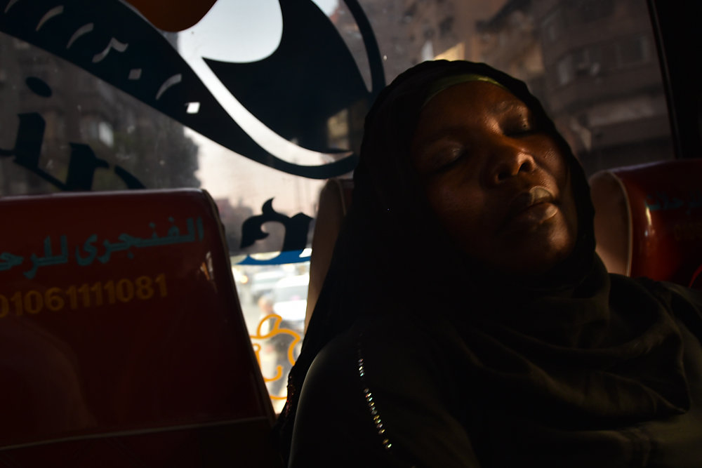Sa'eeda maintains a very busy working schedule. On a regular day, she can spend her morning at the UNHCR in 6th of October City. By the afternoon, she goes back home, prepares food for her children on a makeshift stove, and then begins making her way to A
