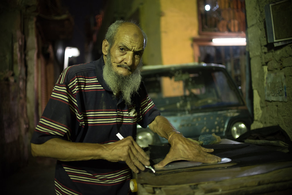 """""""Our problem is that we Egyptians do not produce anything, so we always have to rely on exports. I buy from local factories, but they get their material from abroad and it has been getting a lot more expensive lately. Now I can barely keep the shop open."""