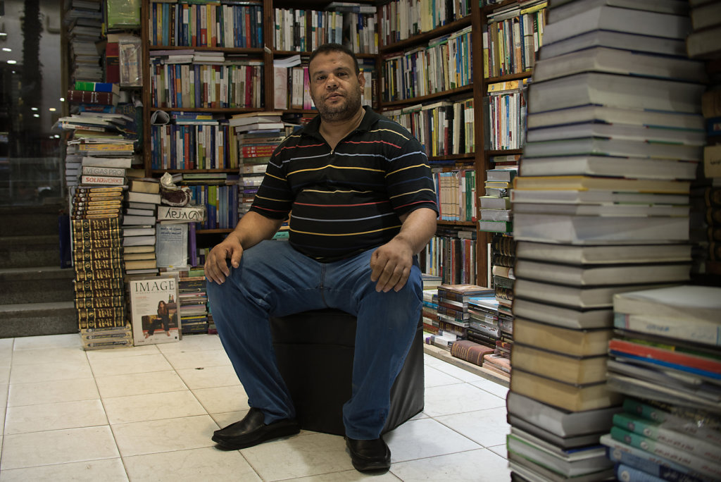 """""""There are 72 publishing houses that have closed down this past year. This is for a lot of reasons. The prices of printing books domestically increased by 60 to 70 percent and after the floatation of the Egyptian pound against the dollar, importing books"""